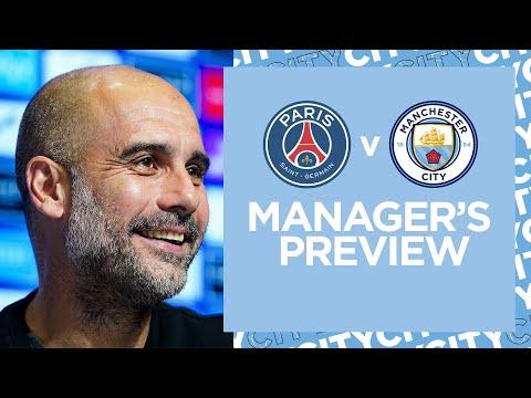 `` Profitez de la pression '' Message de Pep Guardiola aux joueurs de Manchester City avant le Paris Saint-Germain
