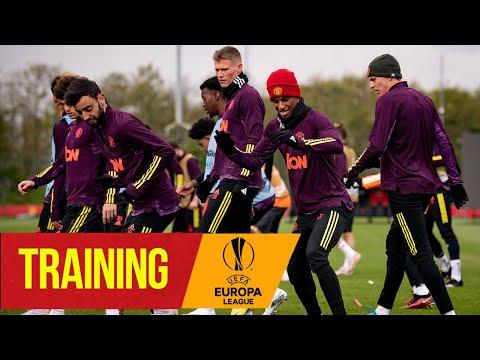 Formation |  Les rouges se préparent pour la demi-finale de l'AS Roma |  Manchester United |  Ligue Europa de l'UEFA