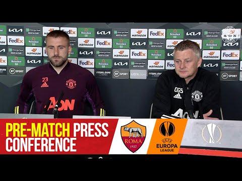 Conférence de presse d'avant-match |  Manchester United contre AS Roma |  Luke Shaw et Ole Gunnar Solskjaer |  UEL