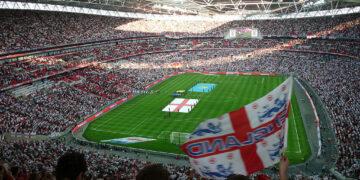 Stade de football, qui représente l'histoire du football