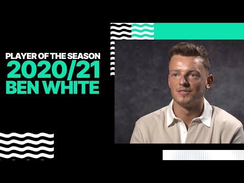Ben White réagit en remportant le prix du joueur de la saison d'Albion