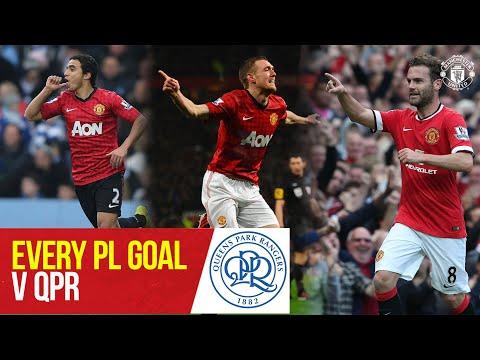 Chaque objectif PL v QPR |  Rafael, Fletcher, Mata, Rooney |  QPR contre Manchester United |  Manchester United