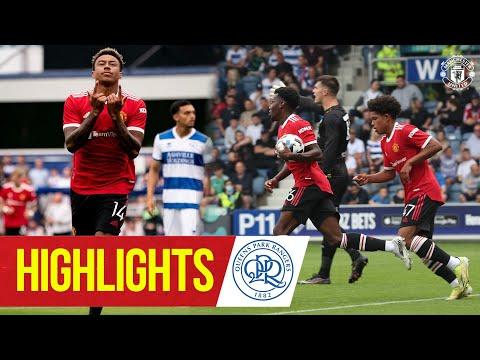 Faits saillants |  QPR 4-2 Manchester United |  Lingard & Elanga sur la cible pour les Reds |  Pré-saison 2021